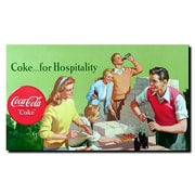 Trademark Fine Art Coke for Hospitality Stretched Canvas Art