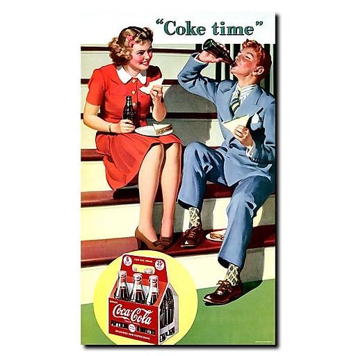 Trademark Fine Art Coke Time Stretched Canvas Art
