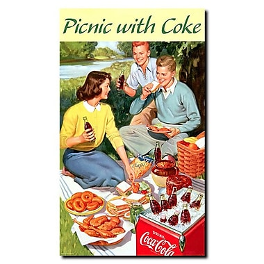 Trademark Fine Art Picnic with Coke Stretched Canvas Art
