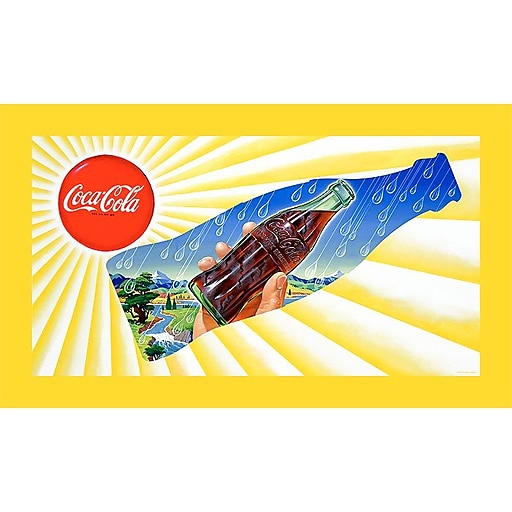 Trademark Fine Art Sun & Rain Coke Bottle Stretched Canvas Print-18x32 Inch, CW6302C-C1832GG