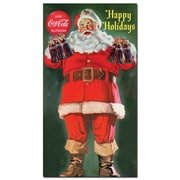Trademark Fine Art Coke Santa Holding 6 pack of Coca Cola