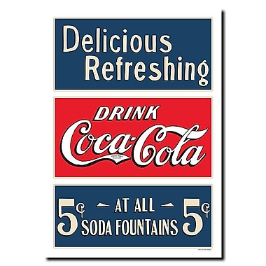 Trademark Fine Art Soda Fountain Stretched Canvas Art-Inches