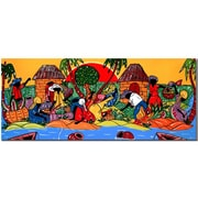 Trademark Fine Art Caribbean Armory-Gallery Wrapped  10x24 Inches