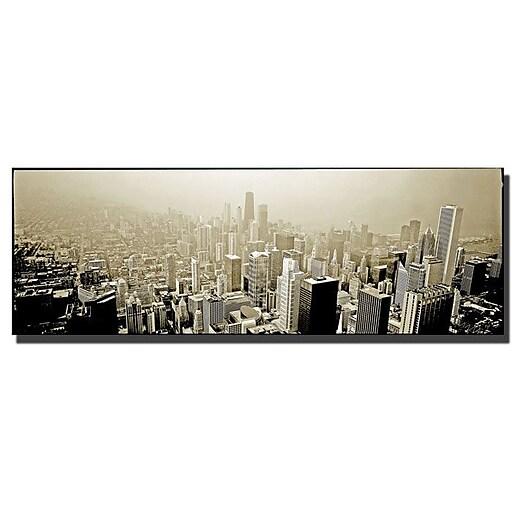Trademark Fine Art Preston 'Chicago Skyline' Canvas Art 10x24 Inches