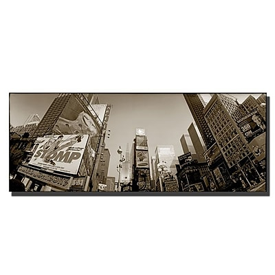 Trademark Fine Art Times Square by Preston-Ready to Hang Art 18x47 Inches