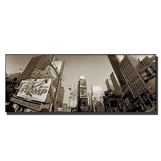 Trademark Fine Art Preston 'Times Square' Canvas Art 12x32 Inches