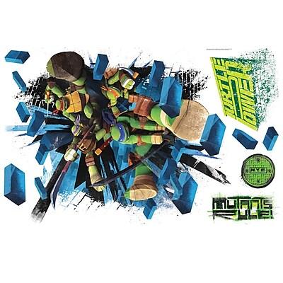 RoomMates Teenage Mutant Ninja Turtles Brick Poster Peel and Stick Giant Wall Decal