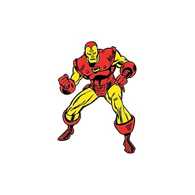 RoomMates Marvel Classic Iron Man Peel and Stick Giant Wall Decal 277189