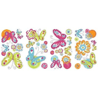 RoomMates Brushwork Painted Butterfly Peel and Stick Wall Decal
