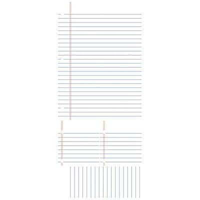RoomMates Notebook Paper Dry Erase Peel and Stick Giant Wall Decal, White