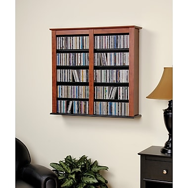 Prepac™ Double Wall Mounted Storage, Cherry and Black