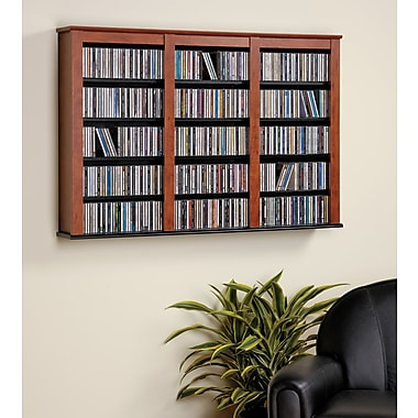 Prepac™ Triple Wall Mounted Storage, Cherry and Black