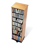 Prepac™ 2-Sided Spinning Tower, Oak and Black