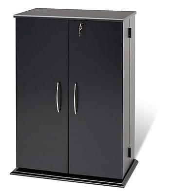 Prepac™ Locking Media Storage Cabinet, Black