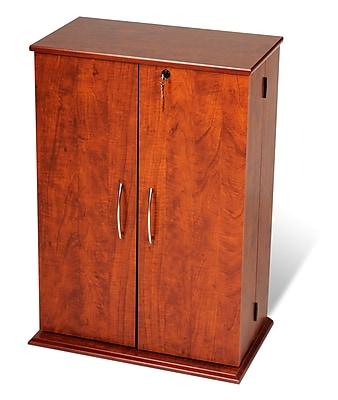 Prepac™ Locking Media Storage Cabinet, Cherry and Black