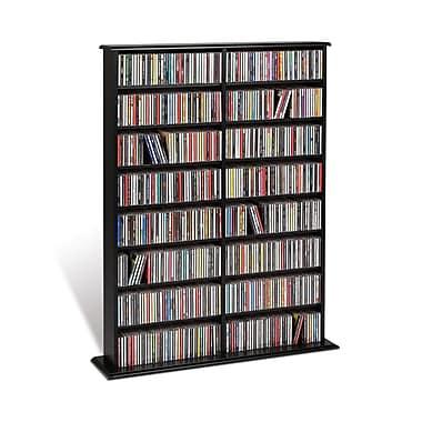 Prepac™ Double Width Wall Storage, Black