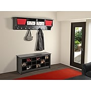 "Prepac™ Wide Hanging Entryway Shelf, 60"" x 11.5"", Black"