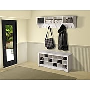 "Prepac™ Wide Hanging Entryway Shelf, 60"" x 11.5"", White"