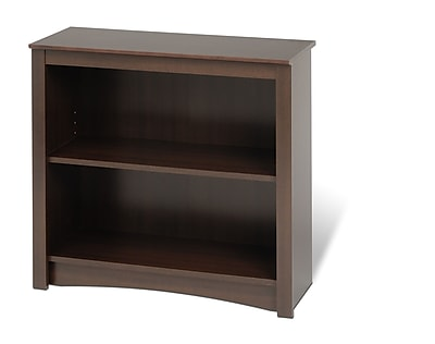 Prepac™ 2 Shelf Bookcase, Espresso