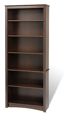 Prepac 31.5'' 6-Shelf Bookcase, Expresso (EDL-3277-K)