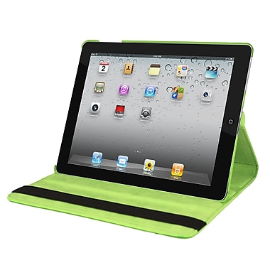 Natico 60-I360-GN Faux Leather Folio Case for Apple iPad, Green