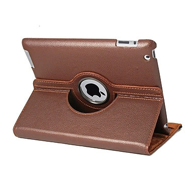 Natico 60-I360-BR Faux Leather Folio Case for Apple iPad, Brown