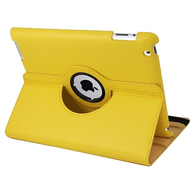 Natico 60-I360-YW Faux Leather Folio Case for Apple iPad, Yellow