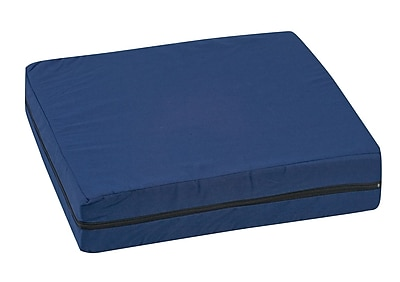 Briggs Healthcare - DMI 513-7602-2400 Polyfoam Deluxe Wheelchair Cushion with Polyester/Cotton Cover, Navy