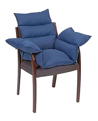 DMI® Polyester/Cotton Standard Comfort Pillow Cushion, Navy