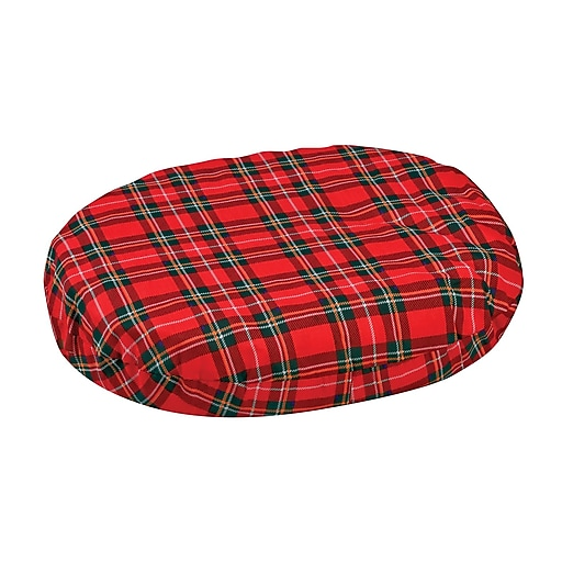 "DMI® 18"" x 15"" x 3"" Foam Convoluted Ring Cushion, Polyester/Cotton Cover, Plaid"