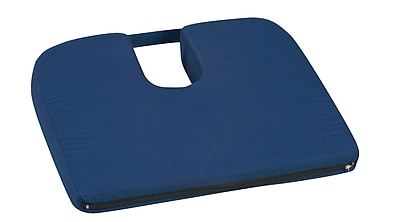 Briggs Healthcare - DMI 513-7939-2400 Polyurethane Foam Sloping Coccyx Cushion, Navy