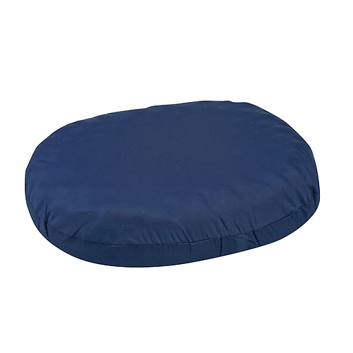 "DMI® 16"" x 13"" x 3"" Foam Convoluted Ring Cushion, Polyester/Cotton Cover, Navy"