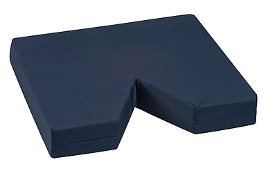 Briggs Healthcare - DMI 513-8015-2400 Polyurethane Foam Coccyx Seat Cushion with Polyester/Cotton Cover, Navy