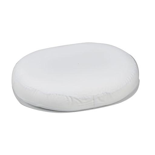 "DMI® 16"" x 13"" x 3"" Foam Contoured Ring Cushion, Polyester/Cotton Cover, White"