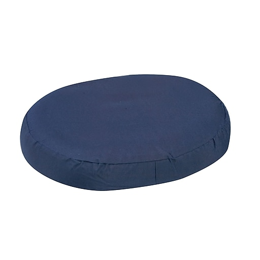 "DMI® 16"" x 13"" x 3"" Foam Contoured Ring Cushion, Polyester/Cotton Cover, Navy"