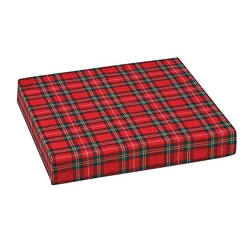 """DMI® 16"""" x 18"""" x 3"""" Polyfoam Wheelchair Cushion, Polyester/Cotton Cover, Plaid"""