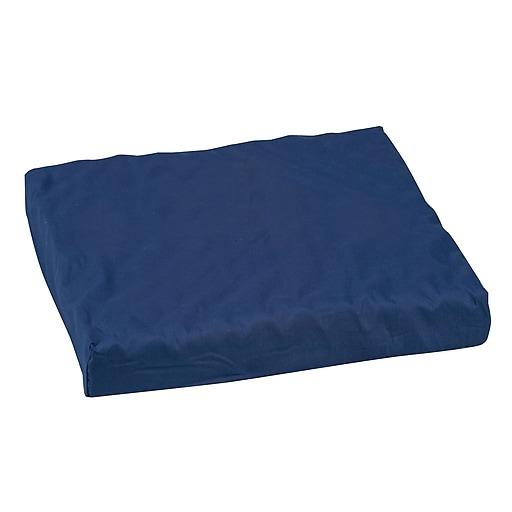 "DMI® 16"" x 18"" x 3"" Polyfoam Convoluted Wheelchair Cushion, Polyester/Cotton Cover, Navy"