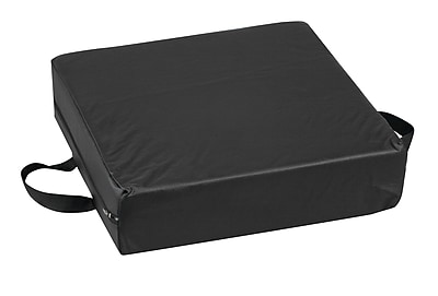 Briggs Healthcare - DMI 513-8884-0200 Foam Deluxe Seat-Lift Cushion with Leatherette Cover, Black