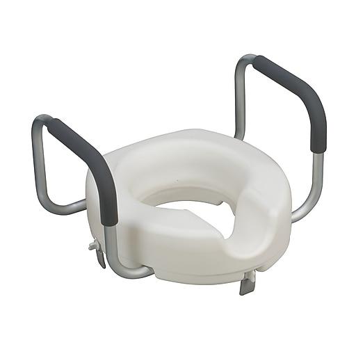 DMI® Locking Raised Toilet Seat With Arms, 250 lbs.