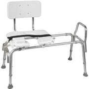 DMI 522-1734-1900 Heavy-Duty Sliding Transfer Bench with Cut-Out Seat, White