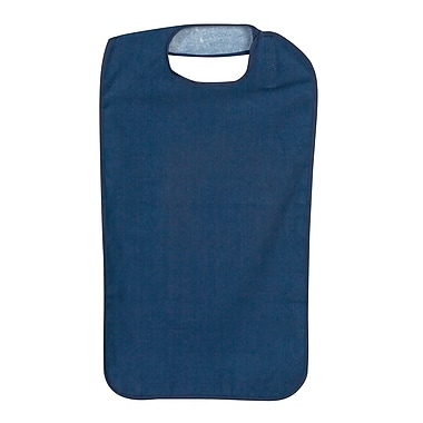 DMI® Terry Cloth Clothing Protector With Hook and Loop, Navy
