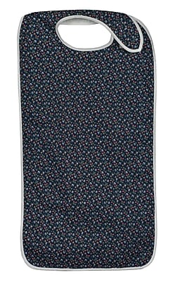 DMI® Polyester/Cotton Mealtime Protector With Hook and Loop, Fancy Navy