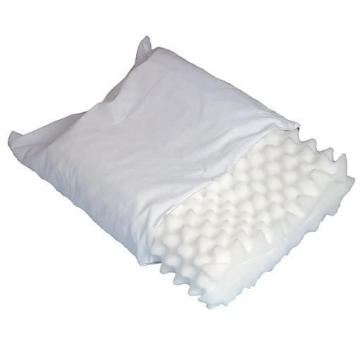 "DMI® 22 1/2"" x 16"" Convoluted Foam Orthopedic Pillow, White"