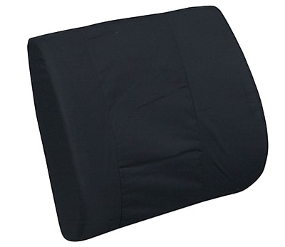 Briggs Healthcare - DMI 555-7300-0200 Foam Standard Lumbar Cushion with Leatherette Cover, Black
