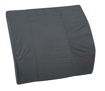 Briggs Healthcare - DMI 555-7301-0200 Foam Contour Bucket Seat Lumbar Cushion Without Strap, Polyester/Cotton Cover, Black