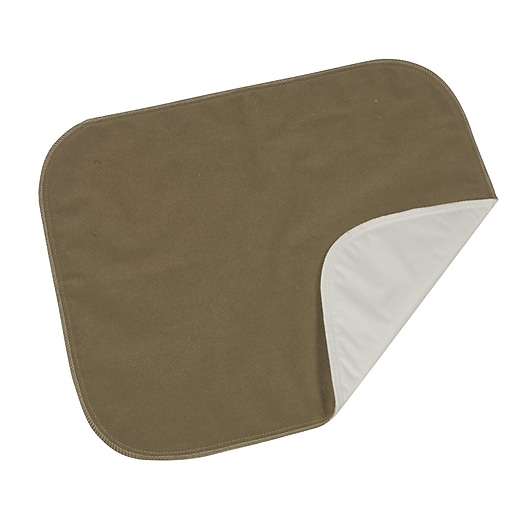 """DMI® 18"""" x 20"""" Velour Protective Seat and Bed Pad, Brown"""