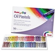 Pentel® Oil Pastel Set With Carrying Case, Assorted, 50/Set