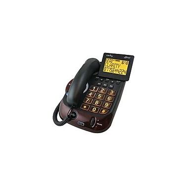 Clarity 54505.001 Single Line Corded Digital Extra Loud Big Button Speakerphone, Black