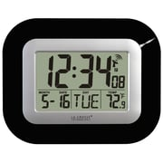 La Crosse Technology WT-8005U-B WWVB Digital Clock with IN temperature - Black