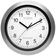 La Crosse Technology WT-3129S 12 Inch Atomic Analog Wall Clock - Silver